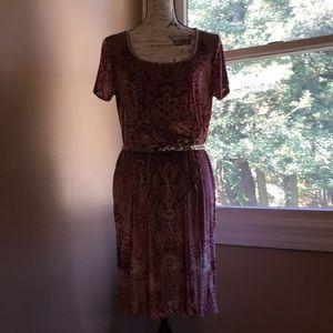Lucky Brand velour dress